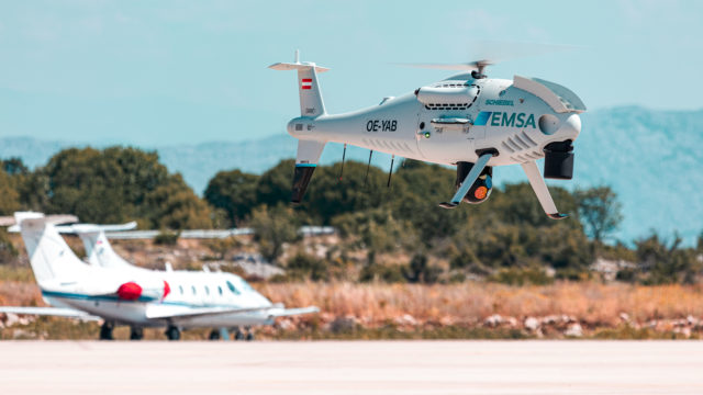 Schiebel CAMCOPTER® S-100 - EMSA Coast Guard Services (Croatia)
