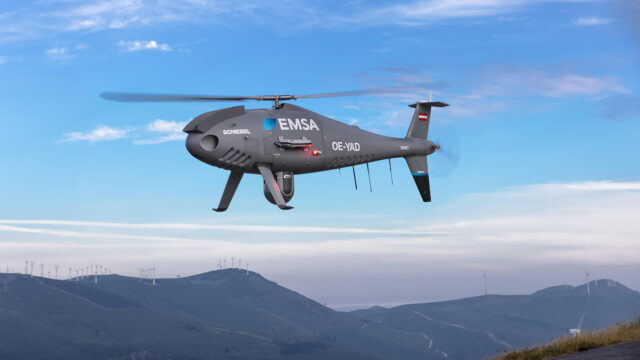 Schiebel CAMCOPTER<sup>®</sup> S-100 – EMSA Maritime Surveillance Spain